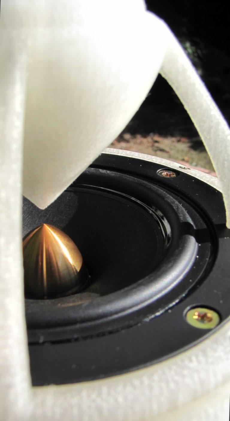 Doppelkegel des OMni-Lautsprechers in Großaufnahme